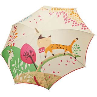 / Puputraga / mouse see the cat illustration Japanese style anti-uv good start and close automatically straight umbrella