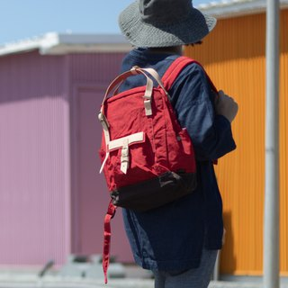 【ZeZe Bag】DYDASH x 3way/hand bag/shoulder bag/backpack/diaper bag/contrast color(Strawberry )