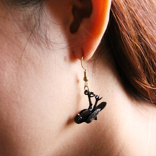 Death Black Birds Earrings