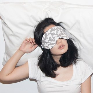Dilemma Series - Coral Sleeping Eye Mask - Off-White