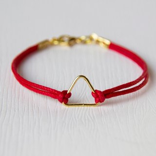 Triangle iron / hand-woven bracelet