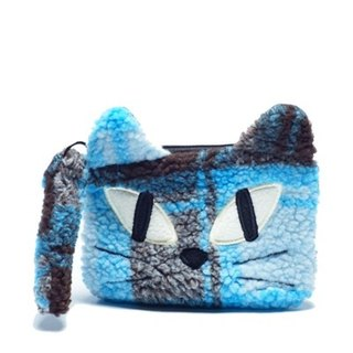 Noafamily, Noah big eyes cat checkered winter Universal bags _BL (A616-BL)
