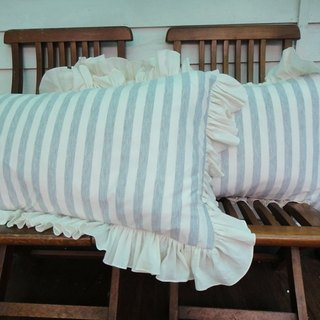 S House comfortable hand-sewn stripes pillowcase