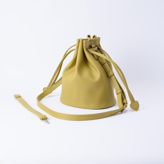 Bundle of Candy Bucket Large Bucket Bag Portable Shoulder & Dual Replaceable Wasabi / Mustard Green