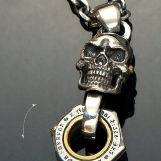 Let's Ride | Movable Piston skull necklace 活塞骷髏全可動項鏈