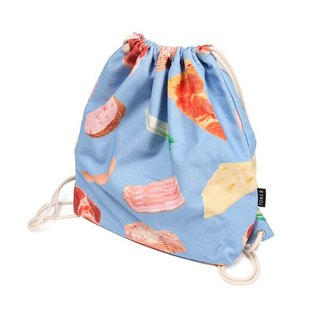 | 049 | 文藝復古 原創設計 抽繩包 retro shoulder bag 蔬菜肉片 drawstring backpack