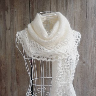 Chain wool wool lace shawl / scarf / hand-woven