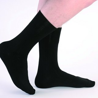 Wide mouth no trace deodorant gentleman socks (black)