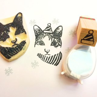 [Christmas Limited] wood handle pet seal Gift Set _by anStamp