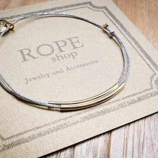 ROPEshop [1 + 1] of silver rope bracelet series.