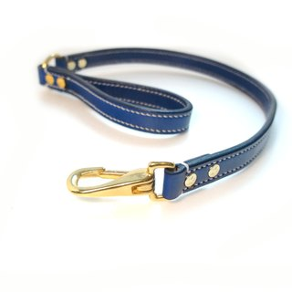 [Handsome] double collar thick hand-made leather short leash