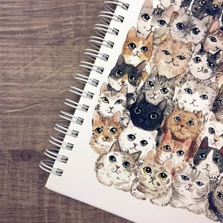 Cats stack music notebook