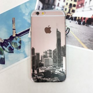 Hong Kong skyview Print Soft / Hard Case for iPhone / Samsung Case