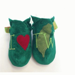 [British handmade shoes FunkyFeet Fashions] love Taiwan green toddler shoes