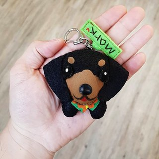 Skillful cat x city cat dachshund dog hacker name puppet hanging ornaments key ring birthday gift