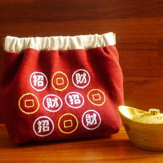 Lucky Fortune Double-sided Embroidery Shrapnel Money Bag Embroidery English Name Remarks