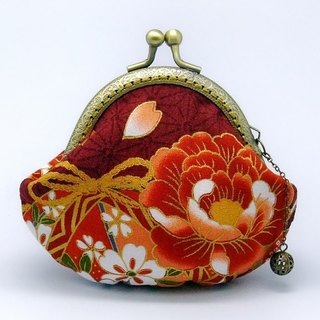 Japanese Kimono Fabric - Small clutch / Coin purse (JS-45)