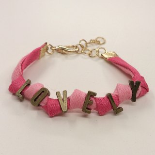 Color wax rope bracelet retro letters - can be customized vocabulary of English words like yo!