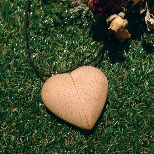 Happy Valentine's Day] [Wood Necklace