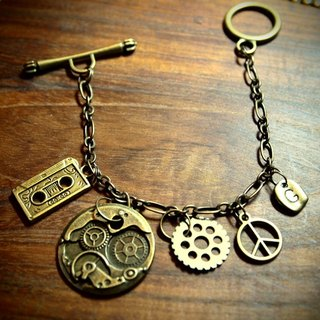 Steampunk Steam Punk Fan Core Vintage Bracelet