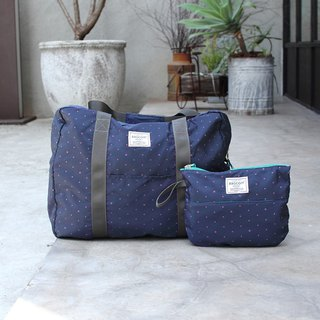 (Mercerized series) Fanny Travel Bag-Dark blue_100420-30