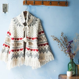 River Hill - young girls dream of Maximo Oliveros era antique hand-woven wool shawl cloak coat Vintage vintage oversize sweater