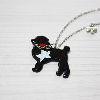 Bonjour black enamel necklace --- VIP Star Black Forest