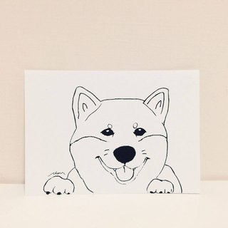 Pistachio-painted postcards Shiba Inu - Shiba daily series
