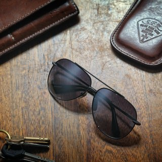 * try at home, free appointment in * DELIGHT Titanium Sunglasses - Black Aviator Sunglasses