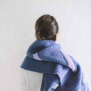 ISLANDS / Oversized Hand Loomed Scarf - Damson