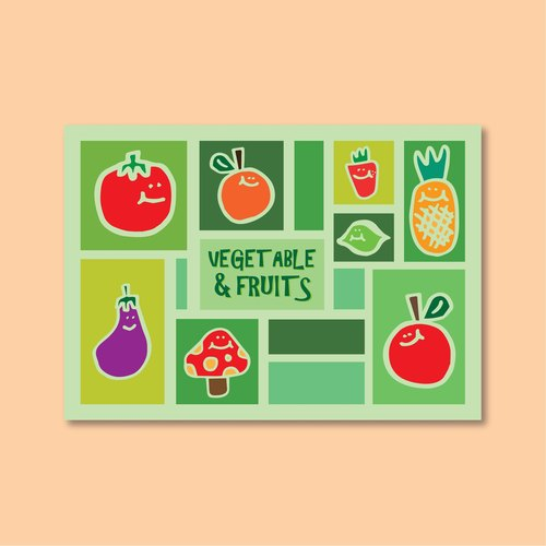 "Fruits and vegetables ""Postcard"""