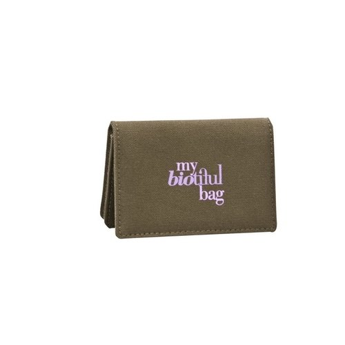 France my biotiful bag Organic Cotton Business Card Holder -Kaki