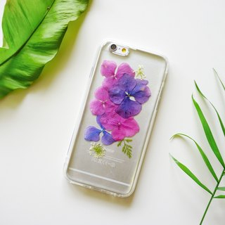 Pressed Flower Phone Cases - Hydrangea Collection for  iphone 5/5s/SE/6/6s/6 plus/6s plus/7/7plus/Samsung S4/S5/S6/S6Edge/S7/S7Edge/Note3/Note4/Note5