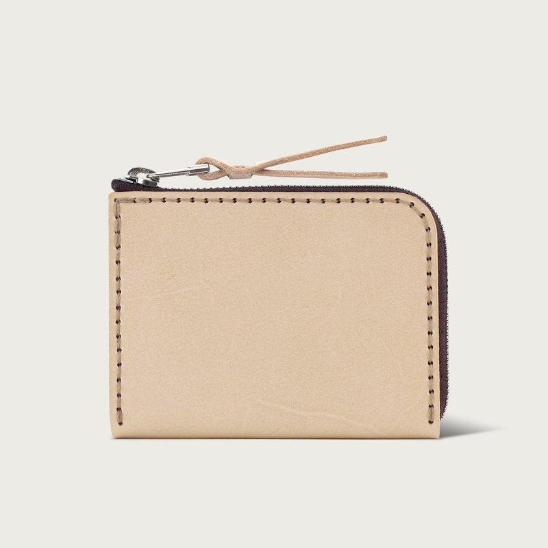 38e971067 L-type zipper short clip / coin purse / wallet - original skin color -  Designer lintzan | Pinkoi