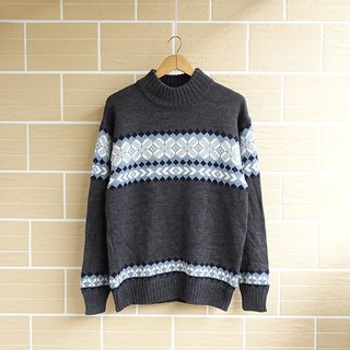 │Slow│ printing - vintage retro sweater │vintage Literary streets neutral.....