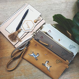 Goat Long Wallet (Tan)