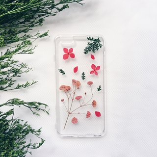 满里透红 • Handpressed Flower Phone Case