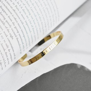 Zhu.Cuff bracelet - Be The Best Of You ( Gold)