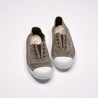 Spanish national canvas shoes CIENTA adult size washed old cement gray scented shoes 70777 34
