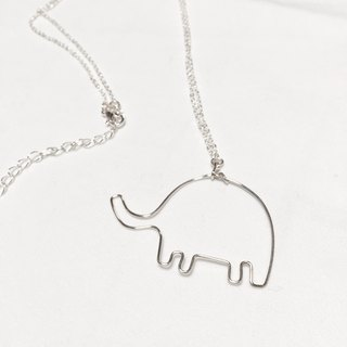 Elephant。Animal Necklace。14Kgold / silver。
