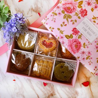 [Dedicated to the most special he / she] top honor - classical rose gift box _ handmade cookies / with gifts