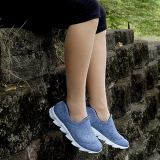 VPEP walking shoes / LOVE series / twist blue, black and white