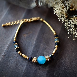 EF Retro Palace Series NO.55 Swarovski Caribbean Sea Blue Brilliant Crystal Gorgeous Bracelet