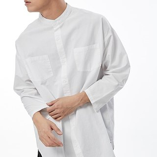 Round neck double pocket shirt # 8754
