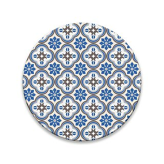 Old House Yan – Hailan Embossed Glass Absorbent Coaster – Blue
