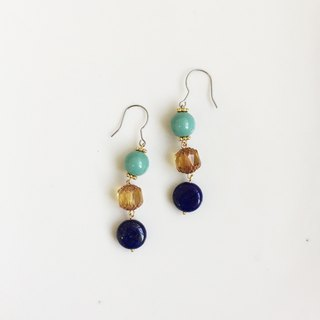 Blue Symphony Natural Stone Crystal Styling Earrings
