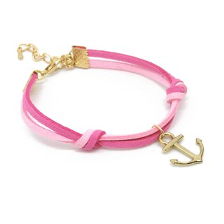 Handmade Simple Stylish Anchor Bracelets Rose Gold Series–berry pink limited
