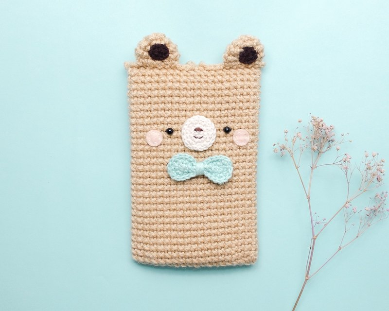 Cellphone Case A Cute Bear No5 Crochet Case Cozy Case Iphone