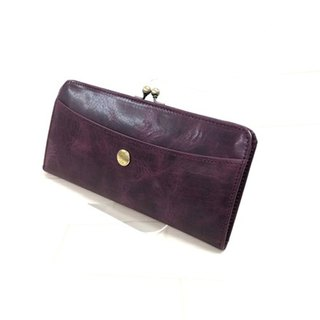 Leather wallet / spoiler / gloss / cow leather / long wallet