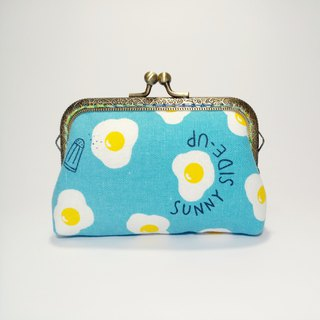 1987 Handmades 【come and eat me - blue】 Mouth gold packets purse clutch